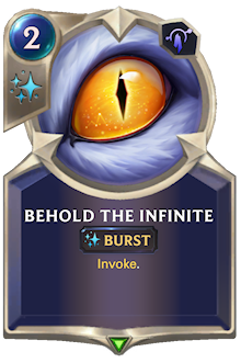 Behold the Infinite