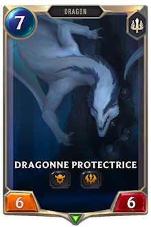 Dragonne protectrice