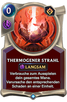 Thermogener Strahl