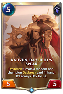 Rahvun, Daylight's Spear