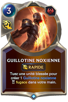 Guillotine noxienne